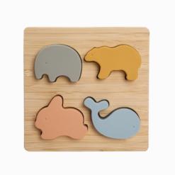 Brinquedo Quebra-cabeça Infantil de Silicone Mundo Animal