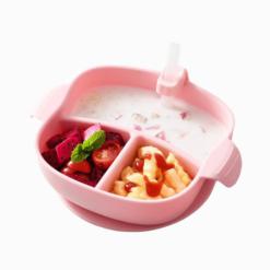 Loja Chiquititos Introdução Alimentar Tigela com Divisórias e Ventosa de Sucção