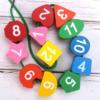 Brinquedo Educativo Montessori de Aprendizagem Precoce Relógio Geométrico