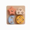 Brinquedo Montessori de Empilhamento de Formas de Silicone Lindo Céu