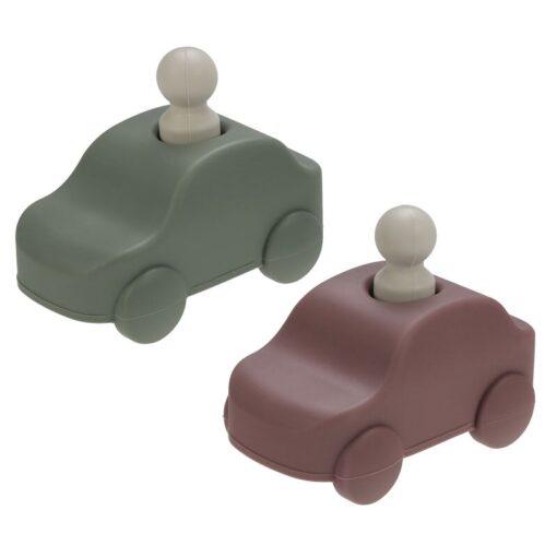 Brinquedo para Bebê Carrinho com Motorista de Silicone