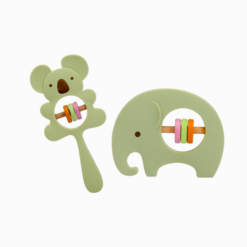 Loja Chiquititos Kit Com 2 Mordedores de Silicone CoalaBaby e ElefanteBaby