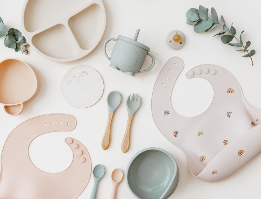 Kits para introdução alimentar do bebê de silicone