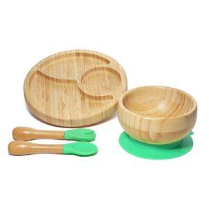 Loja Chiquititos Introdução Alimentar Kit de Bambu com Prato, Tigela e Talheres NatureBaby