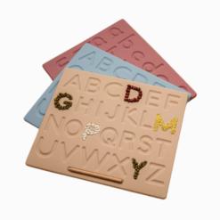 Placa de Silicone para Aprendizagem do Alfabeto 26 Letras