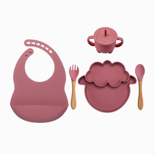 Introdução Alimentar Kit de Silicone Ovelhinha (5 peças)