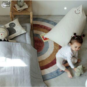 Loja Chiquititos Tapete Antiderrapante para Quarto Infantil Arco-íris Nórdico