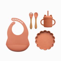 Kit Alimentação de Silicone Baby Leãozinho (5 peças)